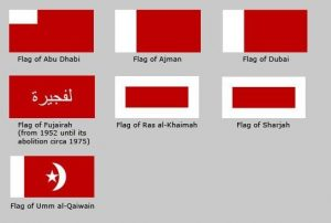 UAE Emirates' Flags